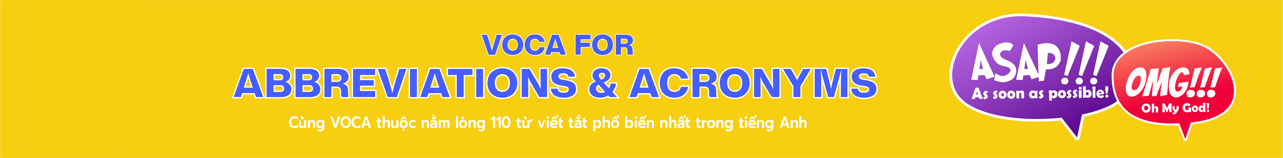 VOCA For Abbreviations and Acronyms