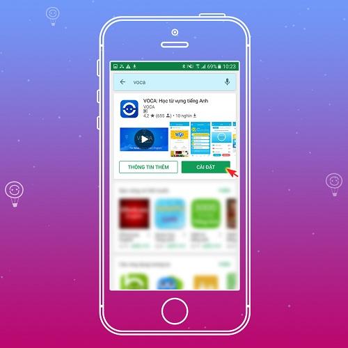app voca setting
