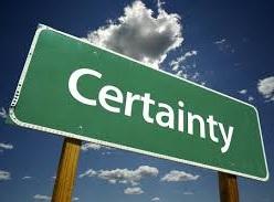 CERTAINTY & PROBABILITY