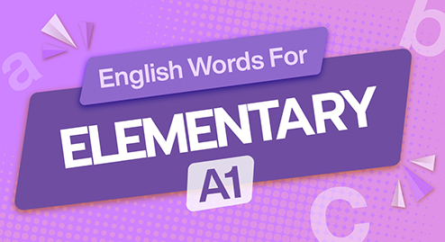 English Words For Elementary (A1)