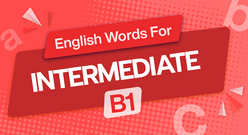 English Words For Intermediate (B1)