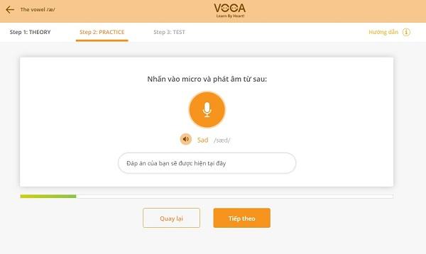 Dạng bài tập phát âm của VOCA Pronunciation 1