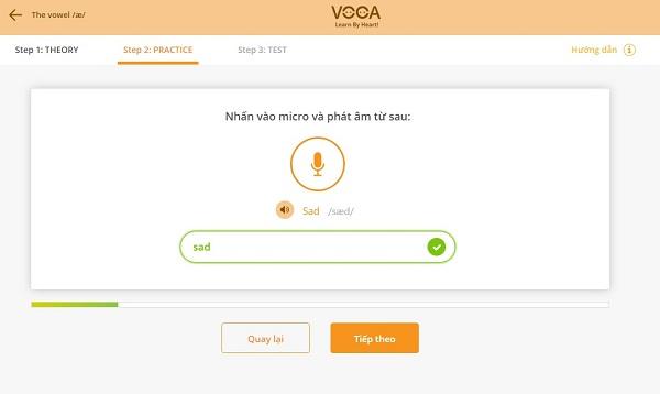 Dạng bài tập phát âm của VOCA Pronunciation 3