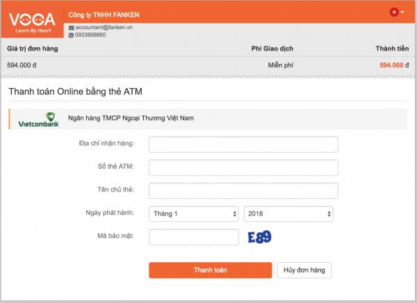 Chuyển khoản Online Banking