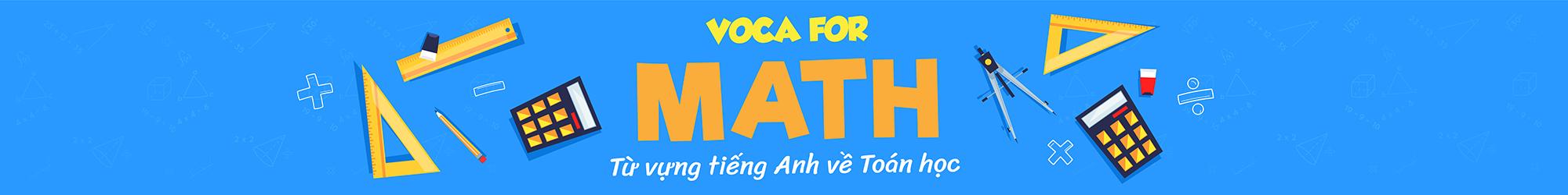 VOCA FOR MATH