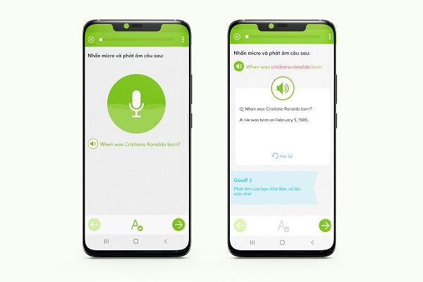 ứng dụng học tiếng Anh giao tiếp bước luyện phát âm