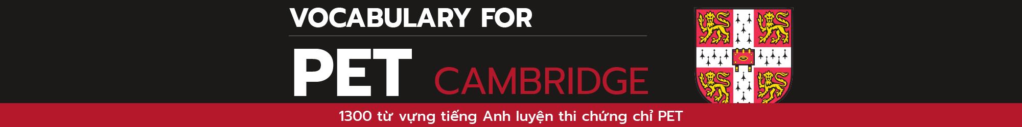 VOCA FOR CAMBRIDGE PET