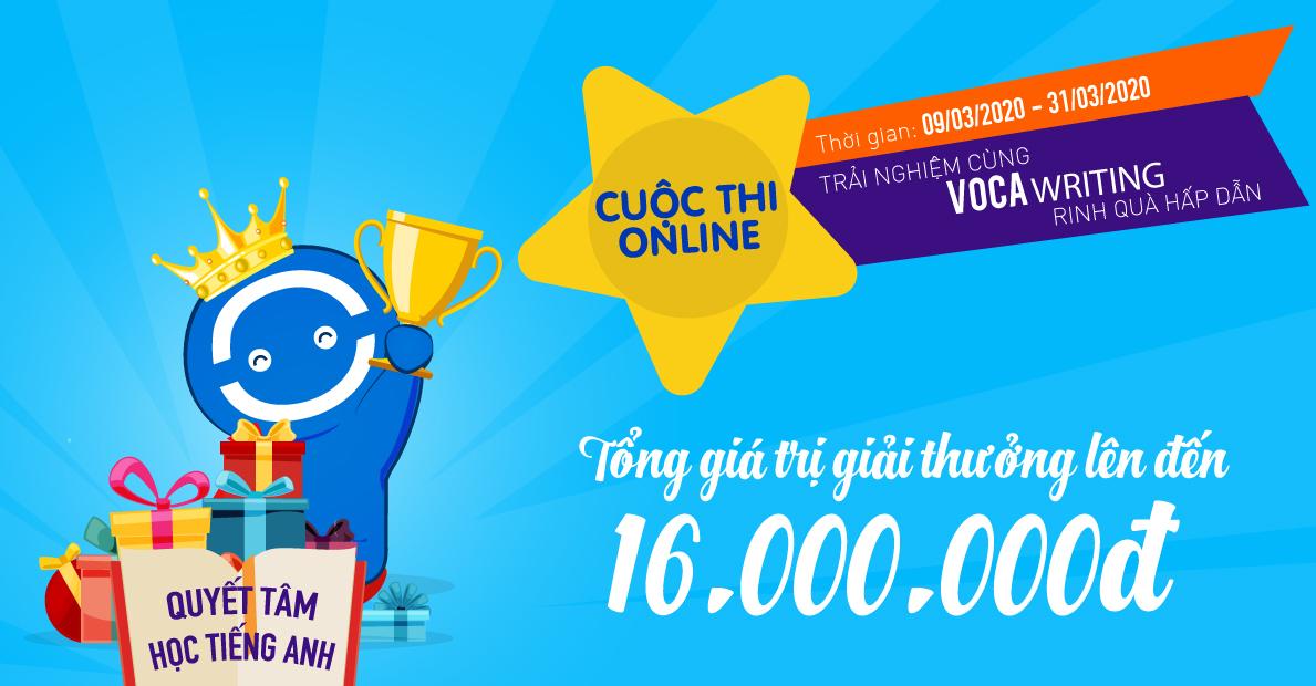 Cuộc thi Online: Trải nghiệm cùng VOCA Writing
