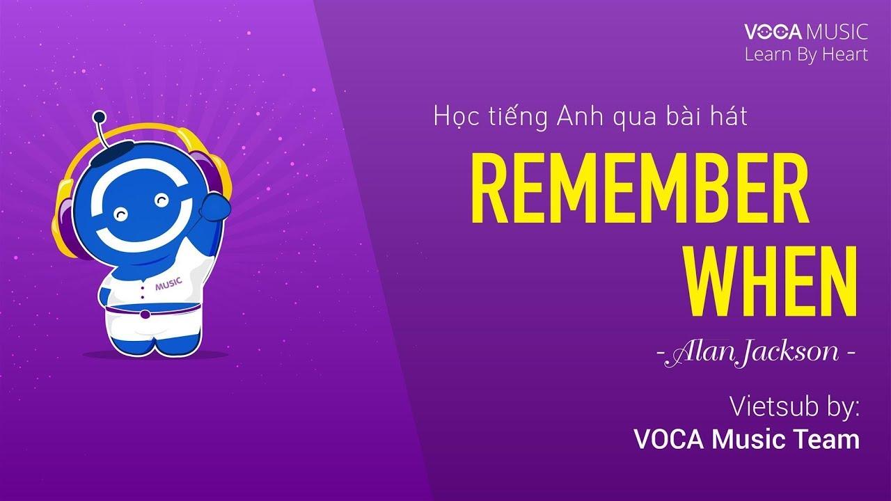 Lời dịch bài hát Remember When