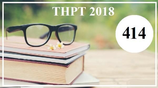 Giải đề thi tiếng Anh THPT Quốc gia năm 2018 (Mã đề 414)