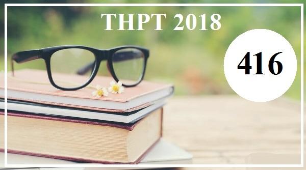 Giải đề thi tiếng Anh THPT Quốc gia năm 2018 (Mã đề 416)