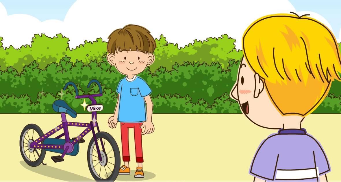 Video tiếng Anh giao tiếp theo tình huống (Part 16: Xe đạp này của ai vậy?