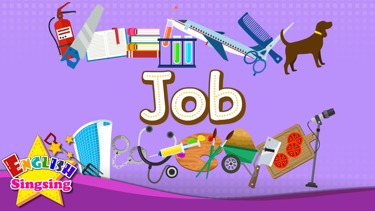 Tiếng Anh trẻ em | Học từ vựng chủ đề: Nghề nghiệp