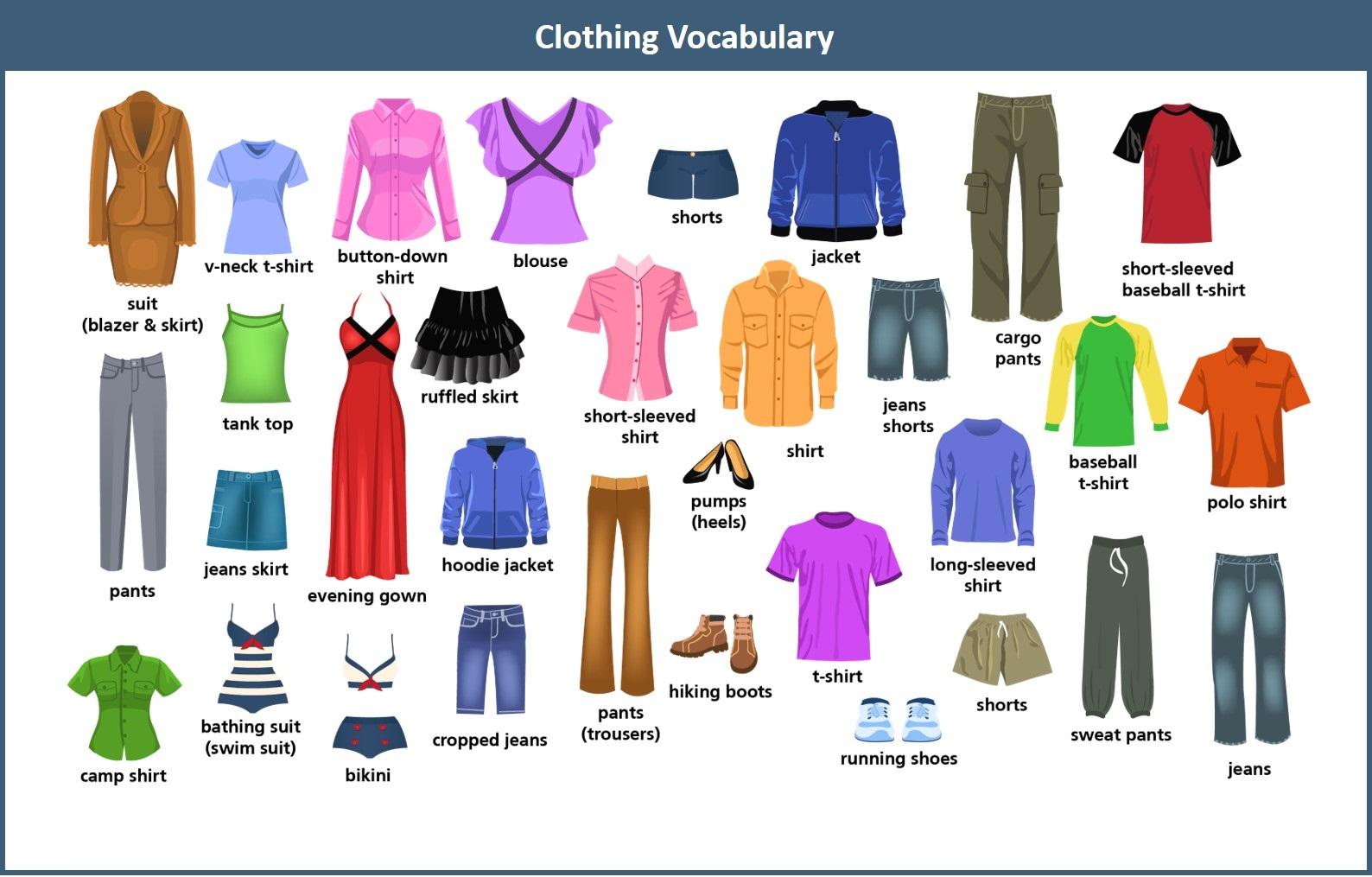 Tổng hợp từ vựng tiếng Anh chuyên ngành may mặc thông dụng nhất